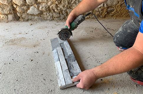 Service-Angebot Verlegung von Steinverblendern